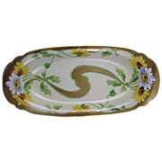 "SALE Stouffer Studios Daisy Motif Serving Dish/Tray (Signed ""A. Piron""/c.1906-1914)"
