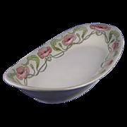 SALE Limoges Blank Arts & Crafts Poppy Motif Serving Dish (c.1900-1930)