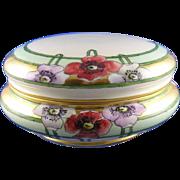 SALE Large T&V Limoges Arts & Crafts Poppy Motif Covered Dish/Dresser Jar (c.1892 ...