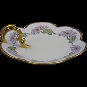 """SALE Zeh Scherzer & Co. (ZS&Co.) Bavaria Arts & Crafts Flower Motif Lemon Server (Signed """""""