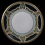 SALE C. Tielsch (C.T.) Altwasser Silesia Arts & Crafts Geometric Leaf Design Plate (c.1875 ...