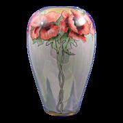 SALE Austrian Blank Art Nouveau Poppy Motif Vase (c.1910-1930)