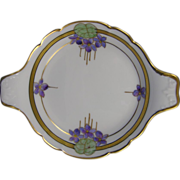 SALE Pickard Studios Arts & Crafts Violet Design Handled Dish (c.1912-1918)
