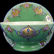"Jean Pouyat (JP) Limoges Arts & Crafts ""Russian Design"" Plate & Bowl Set (Signed """