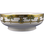 SALE Haviland Limoges Citrus Tree Motif Centerpiece Bowl (c.1894-1931)