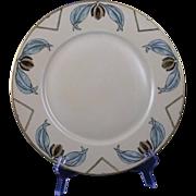 """SALE Plainemaison Limoges Arts & Crafts Organic Motif Plate (Signed """"E.H. Pratt""""/Dat"""