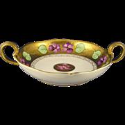 "SALE Delinieres & Co. (D&Co.) Limoges Stouffer Studios Violet Motif Handled Dish (Signed """