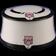 "SALE Moritz Zdekauer (MZ) Austria Arts & Crafts Floral Motif Lidded Trinket Jar/Dish (Signed """