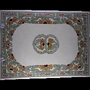 RARE & LARGE T&V Limoges Arts & Crafts Black-Eyed Susan Design Tile/Plaque (c.1892 ...