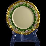 """SALE Haviland Limoges Lotus Flower Design Plate (Signed """"Connor""""/c.1894-1931)"""