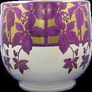 William Guerin & Co. (WG&Co.) Limoges Arts & Crafts Vine & Berry Motif Jardinière/Vase (Signe