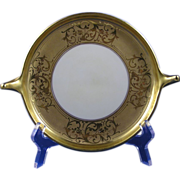 SALE Pickard Studios Encrusted Gold Handled Serving Dish/Plate (c.1912-1918)
