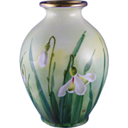 "Edward W. Donath Studio Floral Design Vase (Signed ""Kitt."" for Joseph R. Kittler/c.1"