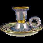 """Haviland Limoges Arts & Crafts Candle Holder (Signed """"C.E.L.""""/c.1894-1931)"""