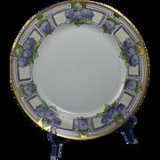 Moritz Zdekauer (MZ) Austria Blue Floral Plate (c.1884-1909)