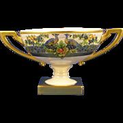 Lenox Belleek Arts & Crafts Peacock Design Pedestal Bowl (c.1906-1924)