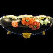 SALE Austria Blank Porcelain Poppy Motif Footed Dish (c.1930-1940)