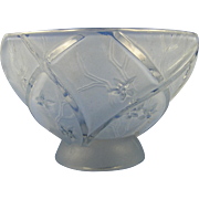 SALE Consolidated Glass Blue Wash Line 700 Bowl (c. 1920's)