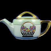 "Rosenthal Bavaria Donatello Arts & Crafts Floral Basket Motif Teapot (Signed ""Byfield's"