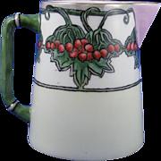 """SALE Charles Martin Limoges Arts & Crafts Berry & Vine Motif Pitcher (Signed """"J.D.P."""""""