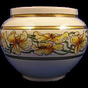 """William Guerin & Co. (WG&Co.) Limoges Arts & Crafts Floral Motif Jardinière/Vase (Signed """""""