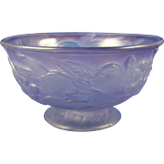 SOLD Consolidated Glass Co. Martele Purple Wash Five Fruits Design Bowl (c.1920s)