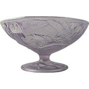 SALE Consolidated Glass Co. Martele Purple Wash Gold Fish Design Bowl/Compote (c. 1920's)