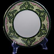"""SALE Porcelain Limousine (PL) Limoges Arts & Crafts Flower & Vine Motif Plate (Signed """"H."""