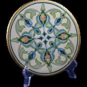 "SALE Jean Pouyat (JP) Limoges Arts & Crafts Geometric/Islamic Motif Plate (Signed ""H.E."""