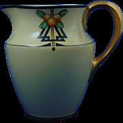"Lenox Belleek Arts & Crafts Citrus Design Pitcher (Signed ""M.D.F.""/c.1906-1924)"