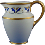 "Lenox Belleek Arts & Crafts Geometric Design Pitcher (Signed E.H.G.""/c.1906-1924)"