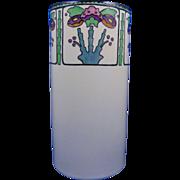 """SALE Noritake Nippon American Arts & Crafts Floral Design Vase (Signed """"M. McCormick"""""""