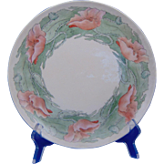 SALE Haviland Limoges Arts & Crafts Poppy Motif Plate (Signed/c.1894-1931)
