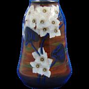 Royal Bonn Germany Arts & Crafts Tube-Lined White Floral Motif Vase (c.1899-1923)