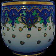 William Guerin & Co. (WG&Co.) Limoges Arts & Crafts Stylized Floral Motif Jardinière/Vase (c