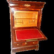 SALE SALE! Antique French Secretaire Abbatant Best Figured Mahogany & Ormolu Circa 1830- .