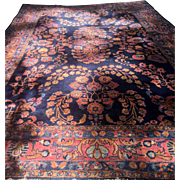SOLD Regal Antique Ex Lg 9'x13' Persian Sarouk Rug Beautiful Colors Circa 1910