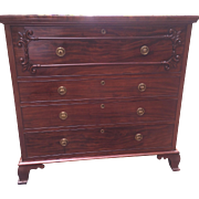 SALE Very Early English Victorian Butler's Chest w/Desk Solid Mahogany Fabulous Circa 1850