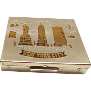 SALE New York Souvenir Compact 1950s Empire State and RCA Building