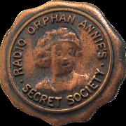 Orphan Annie Secret Society Copper Pin Back