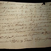 East Greenwich,Rhode Island Estate Contract December of 1818