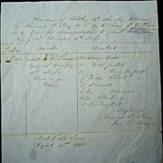 1846 Fort Polk,Texas Mexican-American War Document
