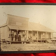 Scarce Photo of Texas Ghost Town Restaurant Gray Mule,Texas