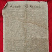 The Columbian Centinel Early American Boston Newspaper Dec.24th 1795