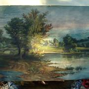 19th century American Oil Painting of Appalachian Farm