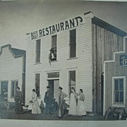 1880's Photo of Roosevelt County Elida,New Mexico Old Cowboy & Outlaw Watering Hole
