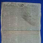 1813 Columbian Centinal Newspaper~General Harrison Attacks Brits in Canada