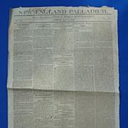 War of 1812 New England Pallidum Newspaper DECLARATION OF WAR !