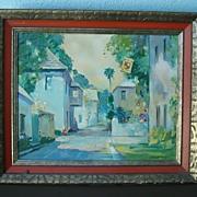 Original Emmet Fritz Oil Painting Aviles Street St. Augustine,Florida