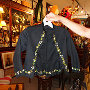 Incredible Civil War Boys Embroidered Coat~Museum Example